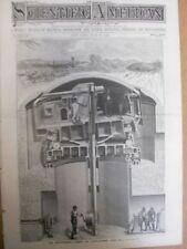 1892 Baker Submarine Boat + Birds Antique Magazine