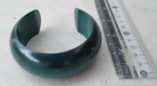 HANDMADE Karen Hill Tribe Golden Teak Wood Bangle Bracelet (Teal Green)