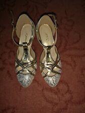 El salón de baile latino Subu Bailarín De Oro Zapatos Talla EU 36 UK 3 Buen Estado