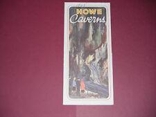Vintage 1960's Howe Caverns New York Brochure Pamphlet