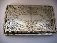 Vintage Cigar Case Continental Silver Bearing Dutch Marks