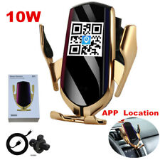 Gold Automatic Qi Wireless Car Charging Charger Mount Clamping Phone Holder 10W