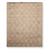 8' x 10' Hand Knotted Moroccan Wool & Bamboo Silk Oriental Area Rug 8x10 Beige