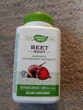Nature's Way Beet Root 1000 mg per Serving, 320 Vegan Capsules Exp 03/31/25