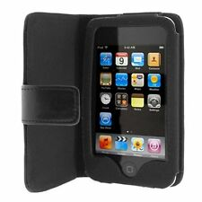 Folio Wallet Leather Case for Apple iPod Touch 2nd/3rd Gen - Black
