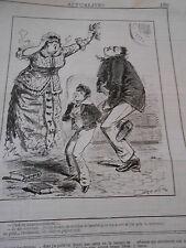 Caricature 1881 Empoisonnement feuilles de Laurier pour ma sauce