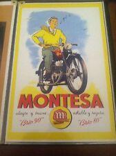Vintage Montessa Spanish Motorcycle Art Poster Man Cave Garage Art Fathers Day