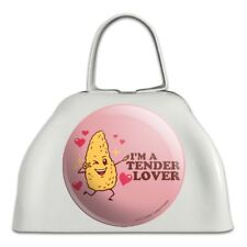 I'm a Tender Lover Chicken Nugget Funny Humor White Cowbell Cow Bell Instrument