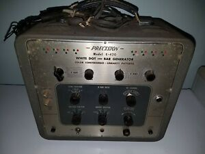 Vintage Precision Model E-420 White Dot and Bar Generator Test Equipment