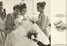 Publicité 1989 ( Double page )  PRONUPTIA robe de mariée mariage voile dentelle