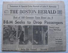 December 7 1963 Boston Herald Newspaper - Jackie Kennedy, Roger Staubach, Oswald