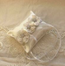 wedding ring pillow with flowers, pillow for rings
