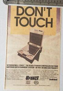 Nintendo Uforce RARE Print Advertisement