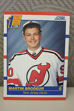 MARTIN BRODEUR 1990-1991 SCORE ROOKIE NEW JERSEY DEVILS #439