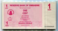 XF-aUNC CONDITION ZIMBABWE LOT 5x 1000$ 2003