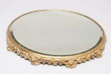 "Victorian Era Beveled Glass VANITY TRAY Platform Mirror Gold Gilded 12.5"""
