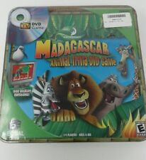 Dreamworks Caja Metálica Madagascar DVD Animal Trivia Juego para 1-4 Jugadores