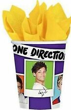One Direction Party Supplies - Hot/Cold Paper Cups 8pk, 266ml - CLEARANCE