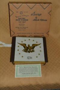 vtg Warm-O-Tray 1776 Eagle Warming Tray Hot Plate Atlantic Precision NEW potluck