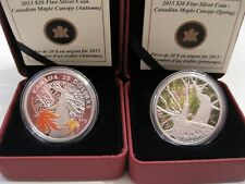 Canada 2013 $20 Fine Silver Coins Canadian Maple Canopy - Spring and Autumn