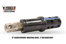 "12"" Auger Extension - 2"" Hex - Eterra Auger Extension for Heavy Equipment"