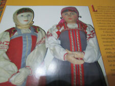 8pg RUSSIAN STOCKINETTE Doll History Article - Holderbaum