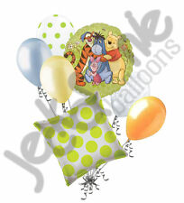 7 pc Winnie the Pooh & Friends Movie Themed Balloon Bouquet Happy Birthday