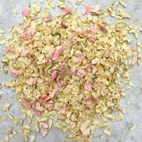 Natural Dried Biodegradable Wedding Throwing Confetti Pink Dried Petals Ivory 1L