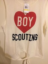 Freeze Girls Medium Shirt Sleeveless Ivory Boy Scouting Logo