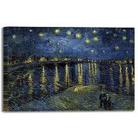 Van Gogh notte stellata sul Rodano quadro stampa tela dipinto telaio arredo casa