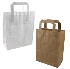 Papiertragetaschen Tragetaschen Papier Tüten Taschen Papiertüten braun weiß