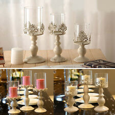 Table Galvanized Candelabra Home Party Wedding Dining Candle Holder +  /*/