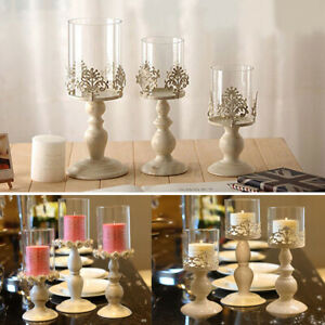 Table Galvanized Candelabra Home Party Wedding Dining Candle Holder +  + #