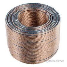 50m Speaker Cable 2 x 0.40mm Loud Speaker Wire OFC Oxygen Free Copper Figure 8