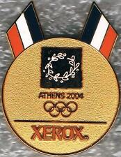 2004 Athens Xerox Medal Style Double French Flags Olympic Games Mark Pin