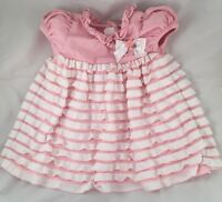 Bonnie Baby pink tiered ruffle dress baby girl 18 m Easter