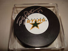 Toby Petersen Signed Dallas Stars Hockey Puck Autographed a