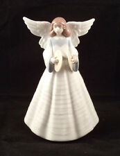 Lladro Porcelain Angelic Cymbalist  5876 Christmas Tree Topper Boxed