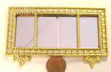 1:12 Scale Ornate Oblong Wall Mirror Dolls House Miniature Bedroom Accessory