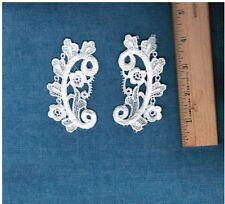 """Gorgeous Lace Venice Applique Ivory 2*1//2/"""" Rayon Crafts Dress Bridal Trim #2159"""