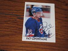 PAT LAFONTAINE AUTOGRAPHED 1987-88 O-PEE-CHEE MINI CARD