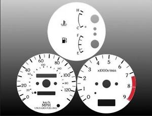 White Face Gauge Kit Fits 1994-1996 Infiniti G20 Dash Instrument Cluster 94-96