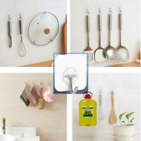 10x Wall Hooks Waterproof Oilproof Self Adhesive Clear Reusable Seamless Hanger