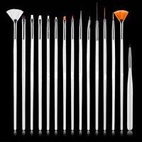 4-Color 15pcs Nail Art Decorations Brush Set Tools DIY Painting Pen Nail Tips