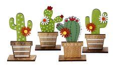 4 pezzi Cactus decorativi in legno h cm13 By Mandorle Bomboniere