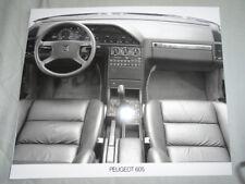 Peugeot 605 Interior Press Photo c1990's v2