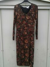 Dark Red LAURA ASHLEY Archive Paisley Long Dress Size 8