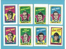 1971-72 Topps Booklets Lot of 13 Different Hockey