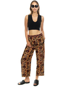 RRP€230 MES DEMOISELLES Velour Trousers Size 38 S-M Slightly See Through Cropped