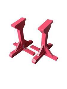Pair Of Gymnastic Pedestal Strength Trainers / Acro Yoga Blocks - Handmade